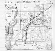 Campbell Township - East,  Medary Township, Onalaska, La Crosse, Medary, La Crosse County 1954
